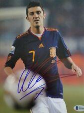 David Villa World Cup Spain Barcelona 8x10 inch Signed Photo Beckett Bas Coa