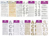Self Adhesive Glitter Rhinestones Diamante Alphabet Number Sheet Stickers Crafts