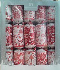 Contemporary Red & White Christmas Bon Bons (14in.) Pk 10