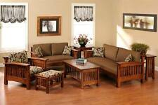 Wooden Sofa Set with 1 center table in Brown Colour