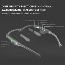 MagiDeal Smart Glasses One Key Answering Bluetooth Business Headset Glasses