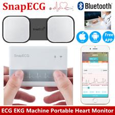 Portable ECG EKG Machine Heart Beat Monitor Electrocardiograph Phone APP Control