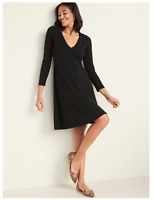 Old Navy Fit & Flare Empire-Waist Jersey Dress for Women Black M #450944
