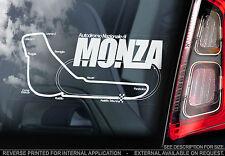 MONZA-F1 Finestra Auto Adesivo-AUTODROMO NAZIONALE TRACK segno Mappa di formula 1