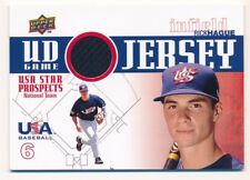 RICK HAGUE 2009 UPPER DECK RC ROOKIE USA STAR PROSPECTS RELIC GAME JERSEY SP F1