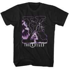 The X Files Science Fiction Tv Show Clouds & Lightnig Adult T Shirt