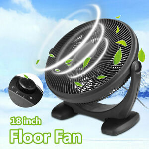 "18"" Floor Fan Black 3 Speed High Velocity Industrial Free Standing Large Gym Fan"