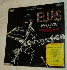 "1969 VG/NM Cover/Record ""Elvis In Person .. Int'l Hotel"" Wrong Word Att LSP-6020"
