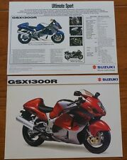NOVEMBER 1999 2000 Model SUZUKI GSX1300R 1300 R MOTOR BIKE CYCLE BROCHURE SHEET