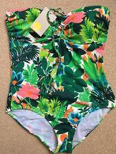 Boden Rinella Tropical Print Swimsuit Sz 16