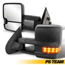 14-18 Silverado G2 Power Heated LED Arrow Signal Extendable Towing Mirror Pair
