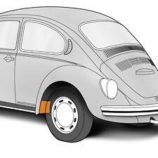 """1952-1979 VW Beetle Left Hand Rear Wheel Inner Splash Panel 7"""" x 6"""" 306262"""
