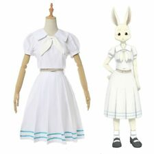 Beastars Haru White Long Short Sleeves Cosplay Costume School RabbitUniformDress