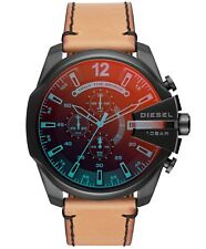 NEW Diesel Timeframes Mega Chief Chronograph Quartz leather DZ4476 Men's Watch