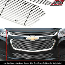 For 2014-2015 Chevy Malibu Upper and Lower Billet Grille Combo