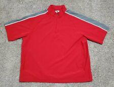 Men's Augusta Sportswear Quarter Zip Pullover Windbreaker Shirt Size XL Red