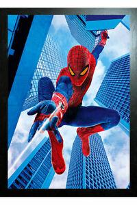 BLACK FRAMED SPIDER MAN FAR FROM HOME - 3D MARVEL AVENGERS PICTURE 325mm X 425mm