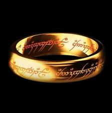 """Lord of the Rings """"One Ring"""" 18K Plated & """"Ring of Barahir"""" Combo Aragorn Lotr"""