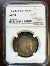 1906C British India 1 Rupee NGC AU58 High Value Make Offer