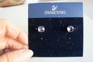 GENUINE SWAROVSKI LAVENDER SQUARE CRYSTYL EARRINGS!