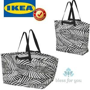 IKEA SLUKIS Shopping Bag Large Black White 10 and 19 Gallon