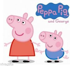 Peppa Pig and George Craft T-Shirt Value  Girls Iron On Transfer 8.5x8.5cms