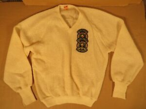 Vintage 1973 Curling Sweater With British Consuls Patch