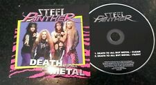 """STEEL PANTHER """"DEATH TO ALL BUT METAL"""" RARE UK PROMO CD (STEELCDP1)"""