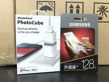 PhotoFast PhotoCube iphone auto Charge Backup USB 3.1 + Samsung 128GB EVO Plus