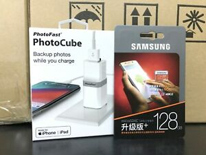 PhotoFast PhotoCube iphone auto Charge Backup USB 3.1 + Samsung 128GB EVO Plus