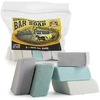 All Natural Amish Farm Bar Soap Variety 5-Pack Cold Process Old-Fashioned Hom...