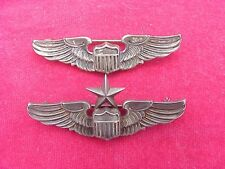 ORIGINAL WWII USAAF SENIOR / PILOT WINGS PAIR - SHIRT SIZE STERLING