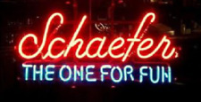 """New Schaefer Beer The One For Fun Open Beer Bar Neon Light Sign 24""""x20"""""""