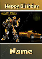 Transformers Bumblebee - Personalised Birthday Card Son Grandson Nephew Brother