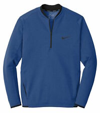 Nike Therma-FIT Textured Fleece 1/2-Zip Long Sleeve Top AH6267 Blue - L XL 2XL