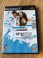 SingStar: Pop (Sony PlayStation 2, 2007) PS2 Cib Game H2