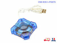 4 Port USB 2.0 Haute Vitesse Extension Hub Multiprise Câble Splitter PC portable