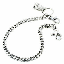 "DK Basic Strong Leash Biker Trucker Key Jean Wallet Chain (16"") Silver CS154"