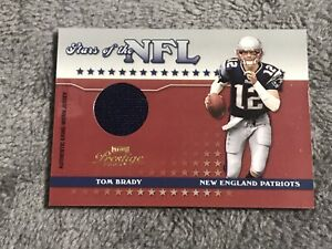 2004 Playoff Prestige Tom Brady /150 STARS OF THE NFL Game Worn Jersey