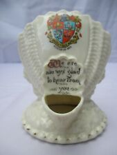 Beautiful Arcadian shell design crested china ornament - Sutton-On-Sea