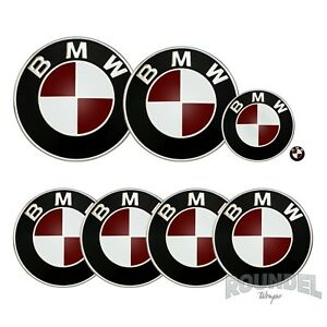For BMW Badges - Gloss Burgundy  - All Models Decals Wrap Stickers Overlays