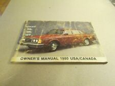 1980 Volvo Owners Manual