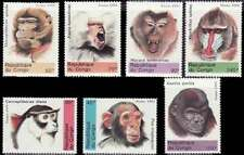 Congo - Primates - Set of 7 Stamps - 951-7
