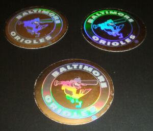 1989 Upper Deck Vintage 80's Logo Hologram Stickers Baltimore Orioles Lot of 3