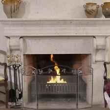 Folding Steel Fireplace Screen Doors 3 Panel Heavy Duty Home Furni Decor Fire