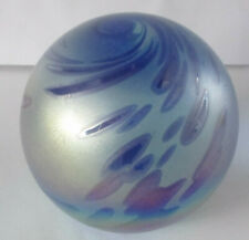 LARGE BLOWN STUDIO GLASS PAPERWEIGHT SIGNED OBG 1995