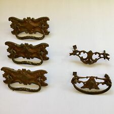 Antique Victorian Drawer Pulls Assorted Metal Drop Bail Ornate Salvaged
