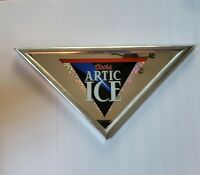 Vintage 1995 Coors Brewing Co. Artic Ice Beer Triangular Framed Bar Sign Mirror