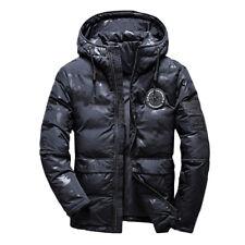 Men's Winter Warm Duck Down Jacket Ski Jacket Snow Hooded Coat Climbing Oversize