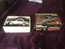 VINTAGE PORSCHE RADIO CONTROLLED CAR 1/16 SCALE USED battery operated